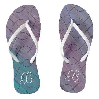 Visionary Style   Custom Chic Pink Blue Purple   Thongs