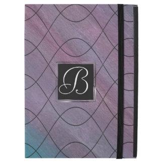 "Visionary Tech   Monogram Pink Purple Teal Blue   iPad Pro 12.9"" Case"