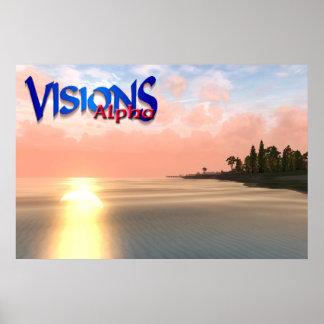 Visions Alpha Ocean Sunset Poster