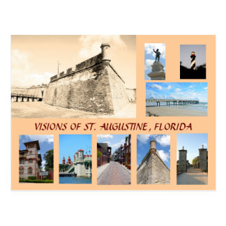 Visions of Historic St. Augustine, Florida Postcard