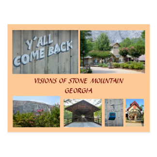 Visions of Stone Mountain, Georgia Postcard