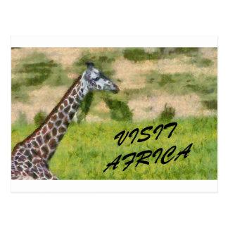 Visit Africa Postcard