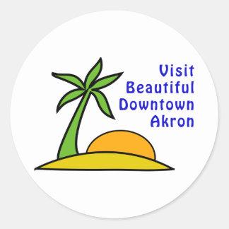 Visit Beautiful Downtown Akron Round Sticker