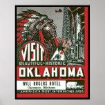 Visit Beautiful Historic Oklahoma Poster