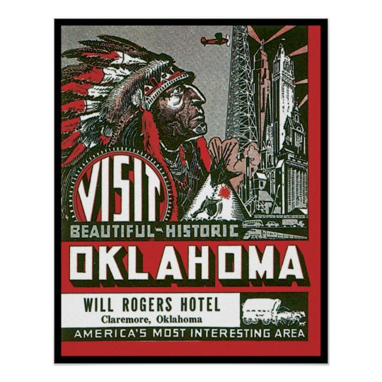 Visit Beautiful Historic Oklahoma Poster
