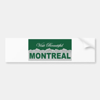 Visit Beautiful Montreal Bumper Sticker