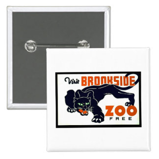 Visit Brookside Zoo Free - WPA Poster - Pins