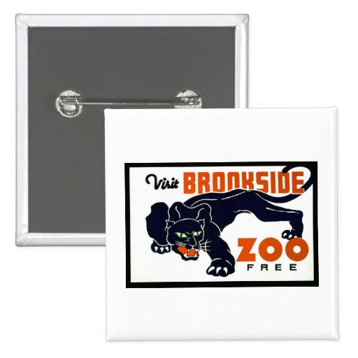 Visit Brookside Zoo Free - WPA Poster - Pins
