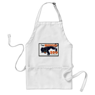 Visit Brookside Zoo Free - WPA Poster - Standard Apron