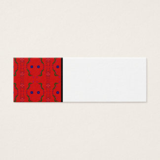 Visit Card with Red ornaments