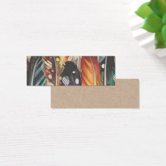 Visit cards with Feathers