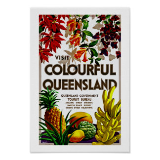 Visit Colorful Queensland Poster