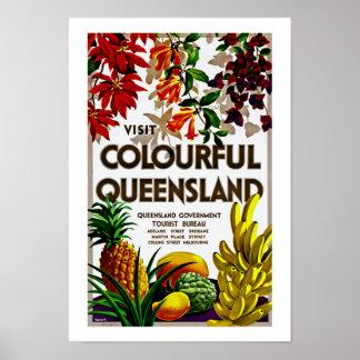 Visit Colorful Queensland Print