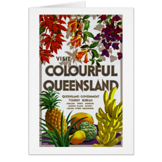 Visit Colourful Queensland Greeting Card