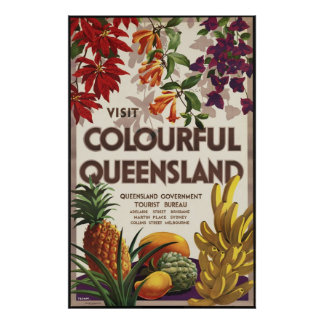 Visit colourful Queensland Poster