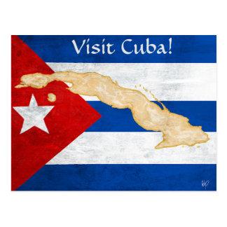"""Visit Cuba"" post card"