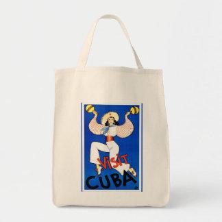 Visit Cuba Vintage Canvas Bags