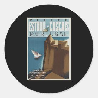 Visit Estoril-Cascais Portugal Round Sticker