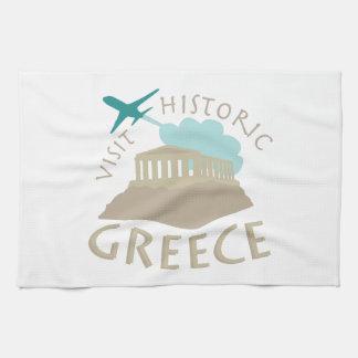 Visit Historic Greece Hand Towels