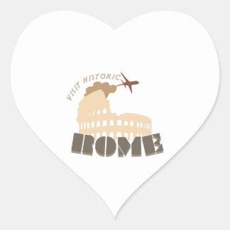 Visit Historic Rome Heart Sticker