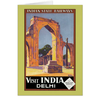 Visit India ~ Delhi Greeting Card