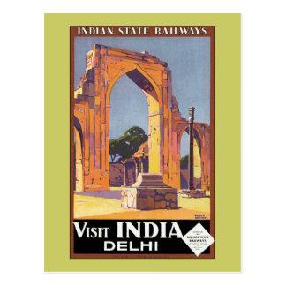 Visit India ~ Delhi Postcard