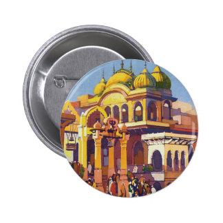 Visit India Muttra 6 Cm Round Badge