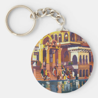 Visit India ~ Muttra Basic Round Button Key Ring