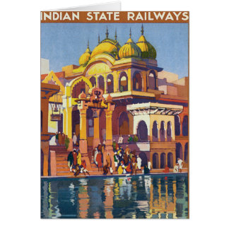 Visit India ~ Muttra Greeting Card