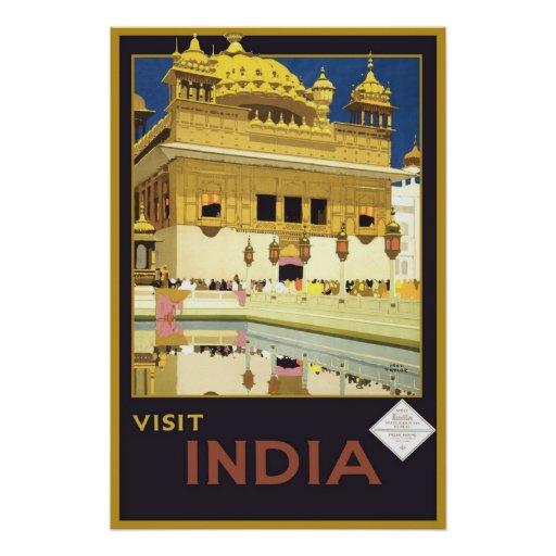 Visit India Vintage Travel Posters