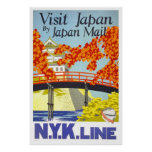 Visit Japan By Japan Mail Poster