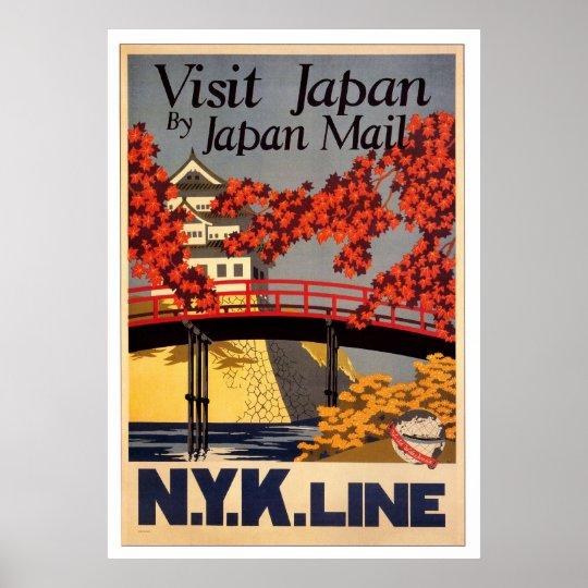 Visit Japan Retro Poster