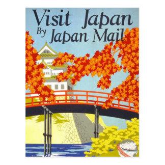 Visit Japan Vintage Travel Art Post Cards