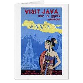 Visit Java Greeting Card