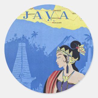 Visit Java Round Sticker