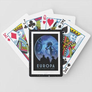 Visit Jupiter Moon Europa - Space Tourism Advert Poker Deck