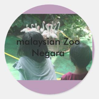 visit malaysia round sticker