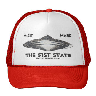 Visit Mars The 51st State Mesh Hats