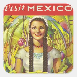 Visit Mexico Square Sticker