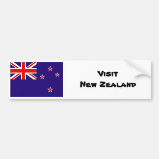Visit New Zealand tourism bumper sticker