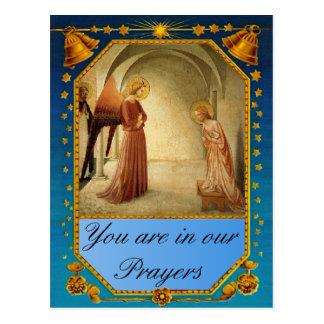 Visit of the angel Gabriel Postcard
