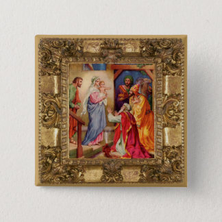 Visit of the Wise Men 15 Cm Square Badge