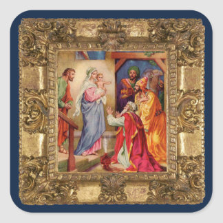 Visit of the Wise Men Square Sticker