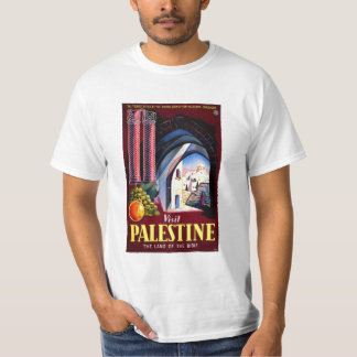 Visit Palestine Holy Land Vintage Travel Art T-Shirt