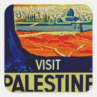 Visit Palestine Square Sticker