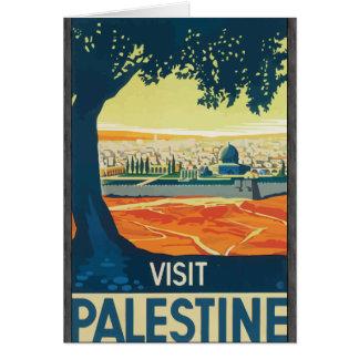 Visit Palestine, Vintage Greeting Card