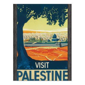 Visit Palestine, Vintage Post Card