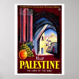 """Visit Palestine"" Vintage Travel Poster"