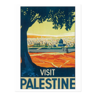 Visit Palestine Vintage Travel Poster Postcard