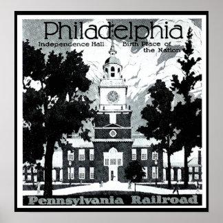 Visit Philadelphia on the Pennsylvania Railroad Poster
